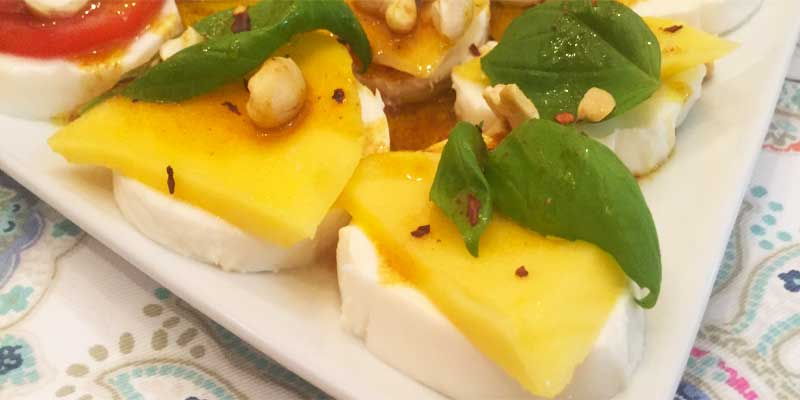 mozarella pineapple