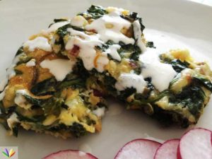 Eat4happiness Maitake Spinach Quiche