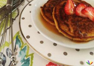 Eat4happiness - Chia einkorn kefir pancakes