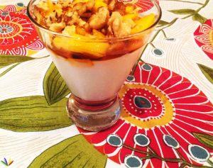 peach breakfast yoghur